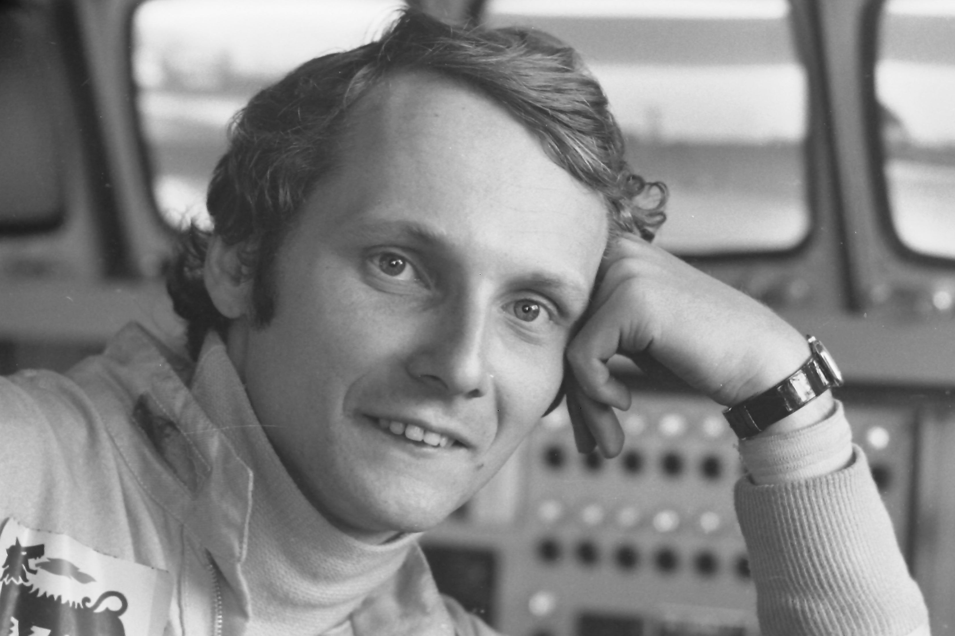 Niki Lauda in juüngeren Jahren